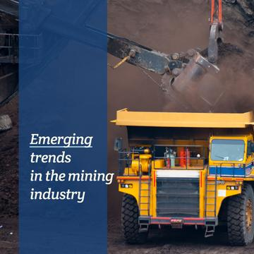 Mining industry with Yellow harvester