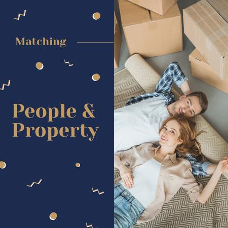 Template di design Couple in their new Home Instagram AD
