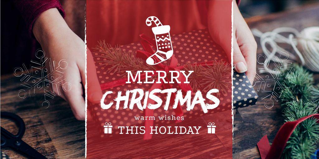 Merry Christmas Greeting — ein Design erstellen