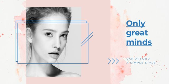 Young girl without makeup Image Design Template