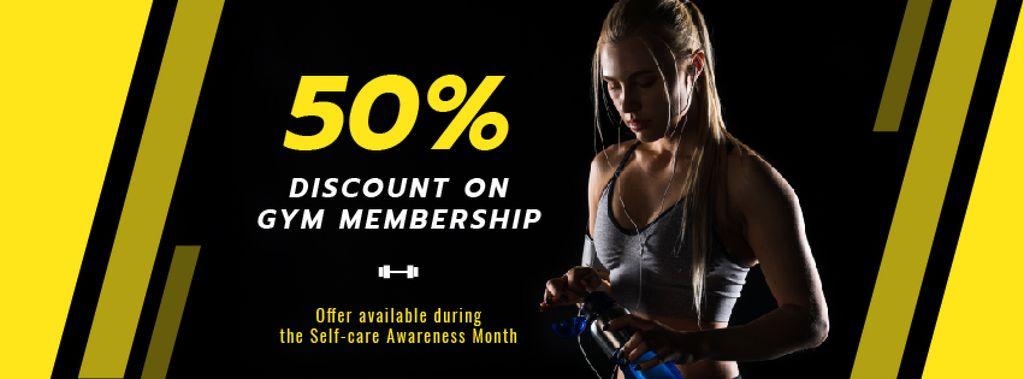Gym Promotion with Woman Lifting Dumbbells — ein Design erstellen