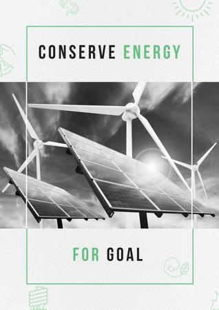 Concept of Conserve energy for goal Poster Modelo de Design
