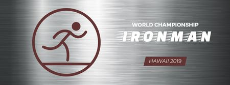Plantilla de diseño de Triathlon sporting tournament icon Facebook Video cover