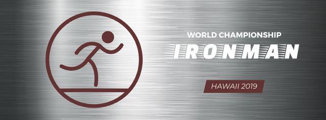 Triathlon sporting tournament icon Facebook Video cover Modelo de Design