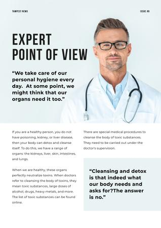Doctor's expert advice on Health Newsletter Modelo de Design