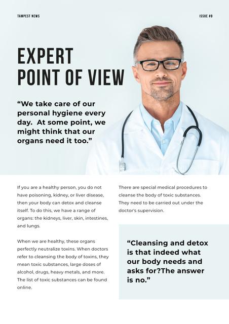 Doctor's expert advice on Health Newsletter Design Template