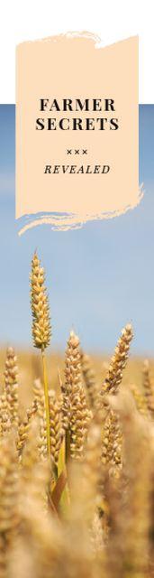 Farming Secrets Wheat Ears in Field Skyscraper Modelo de Design