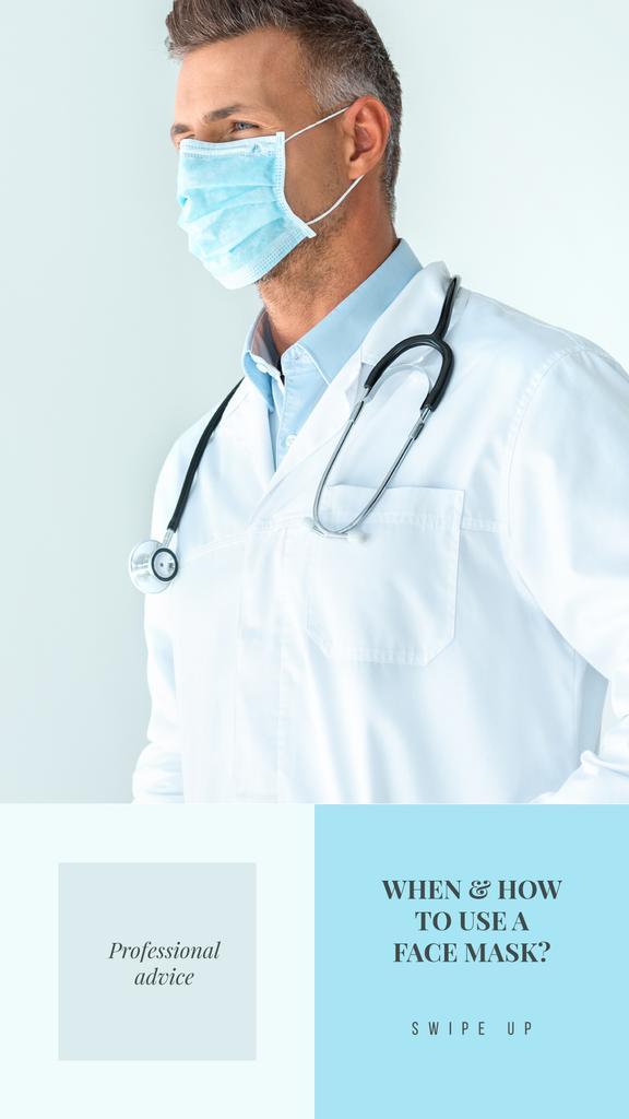 Professional advice with Doctor in Medical Mask — Create a Design