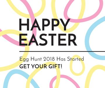 Egg hunt 2018 in Happy Easter Day