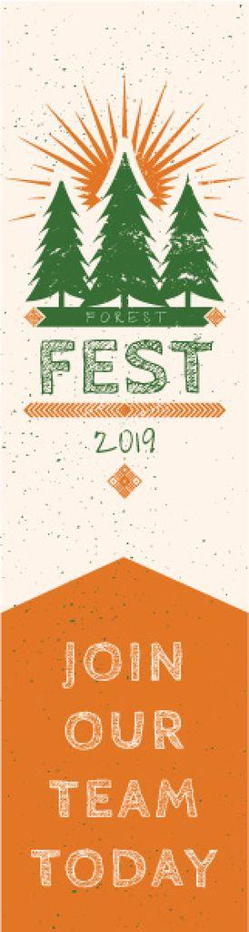 Forest fest banner - Bir Tasarım Oluşturun