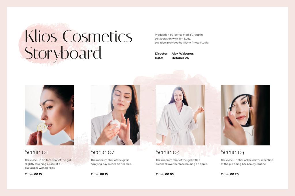 Woman taking care of her Skin — Crea un design