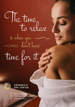 Salon Ad Woman Relaxing in Spa | Poster Template