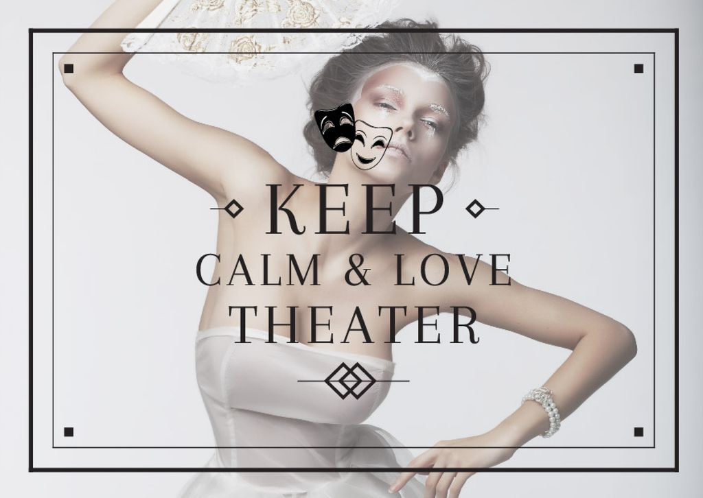 Citation about love to theater — Modelo de projeto