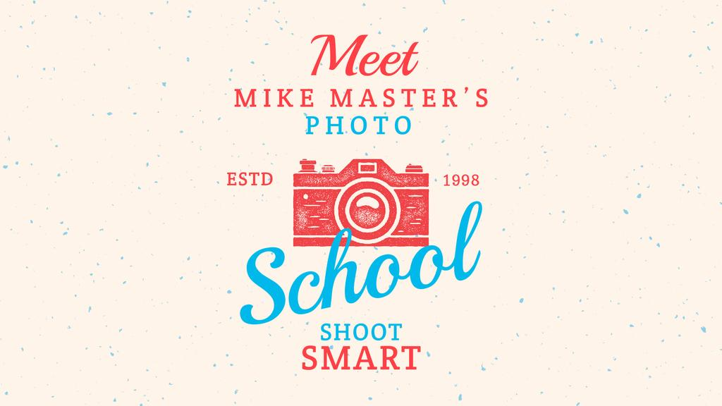 Photo School Ad Stamp of Camera — Maak een ontwerp