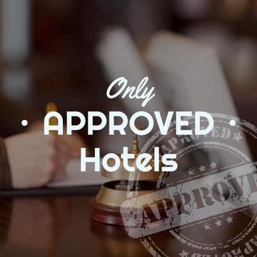 only approved hotels poster