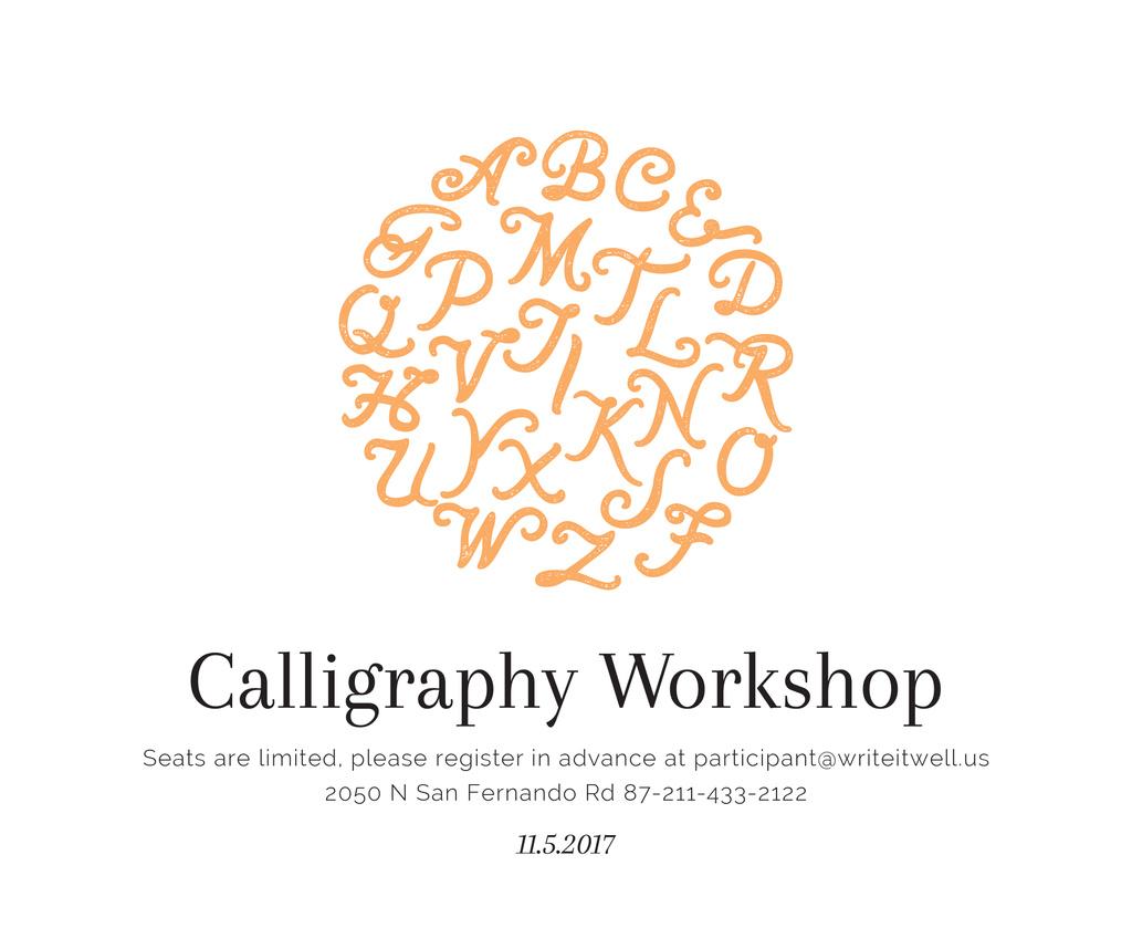Calligraphy Workshop Announcement Letters on White — Modelo de projeto