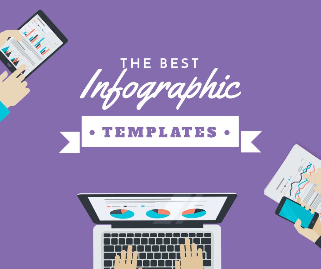 Plantilla de diseño de Business Team working on infographic Facebook