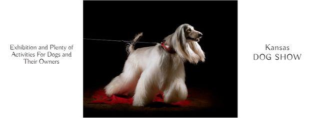 Dog Show in Kansas Annoucement Facebook coverデザインテンプレート