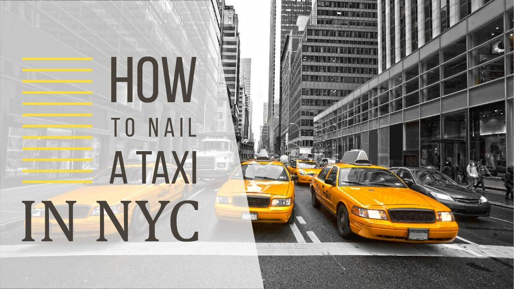 Taxi Cars in New York — ein Design erstellen