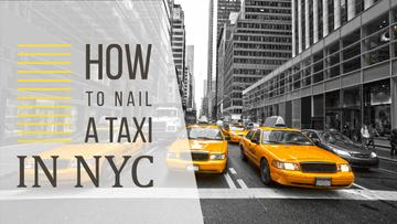 Taxi Cars in New York | Youtube Thumbnail Template