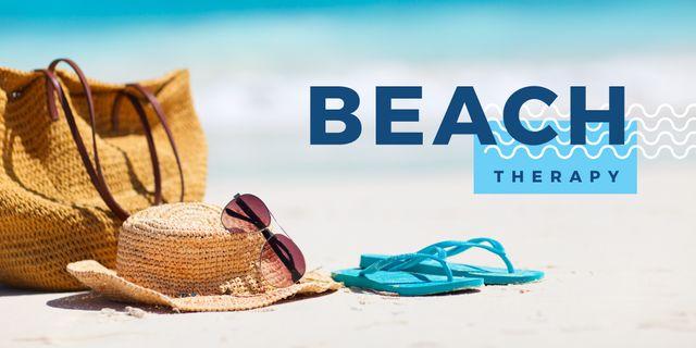 Summer vacation on the Beach Twitter Modelo de Design