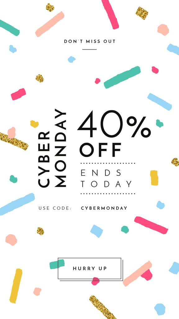Cyber Monday Sale Bright and Shinny Confetti —デザインを作成する