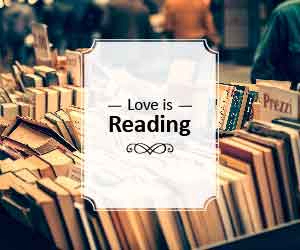 love is reading poster for bookstore — Modelo de projeto