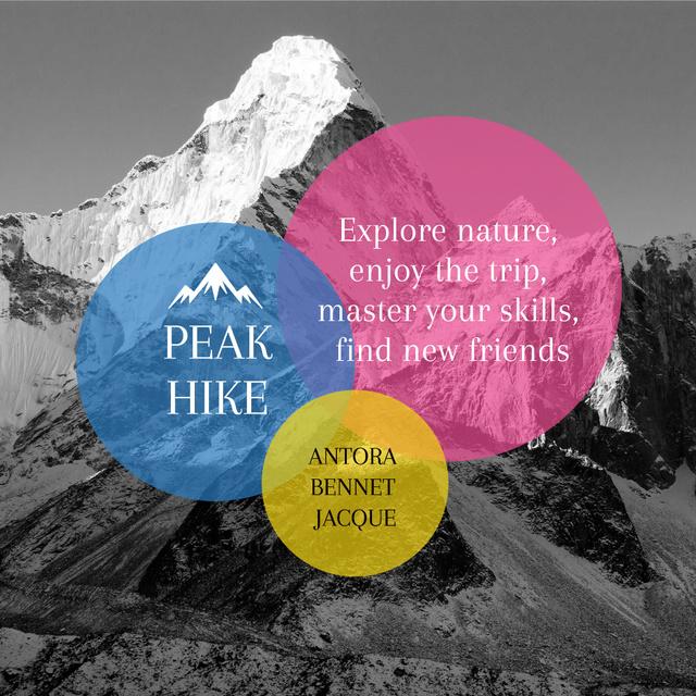 Plantilla de diseño de Hike to the Peak with Enjoy Instagram