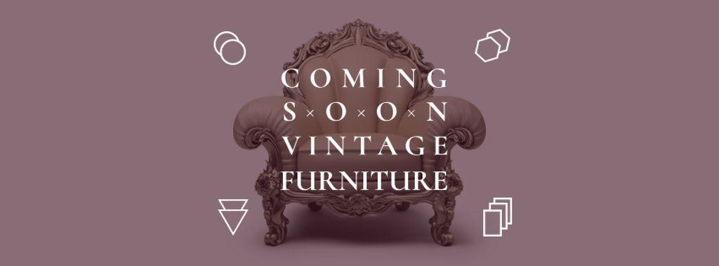Antique Furniture Ad with Luxury Armchair — Crear un diseño