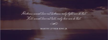 Modèle de visuel Martin Luther King day - Facebook cover