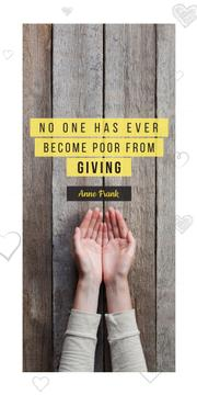 Charity Quote with Open Palms