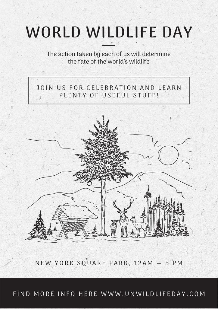 World wildlife day Announcement — Crear un diseño