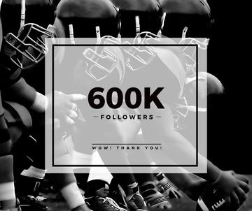 600k followers poster for sport blog