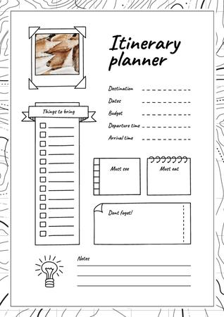 Modèle de visuel Itinerary Planner with Shells - Schedule Planner