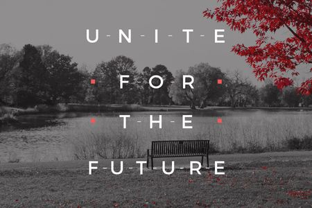 Ontwerpsjabloon van Gift Certificate van Concept of Unite for the future