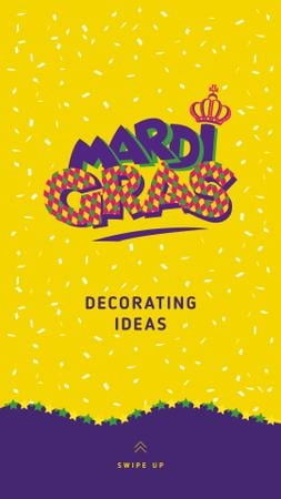 Mardi Gras Decorating ideas Offer Instagram Storyデザインテンプレート