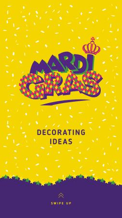 Szablon projektu Mardi Gras Decorating ideas Offer Instagram Story