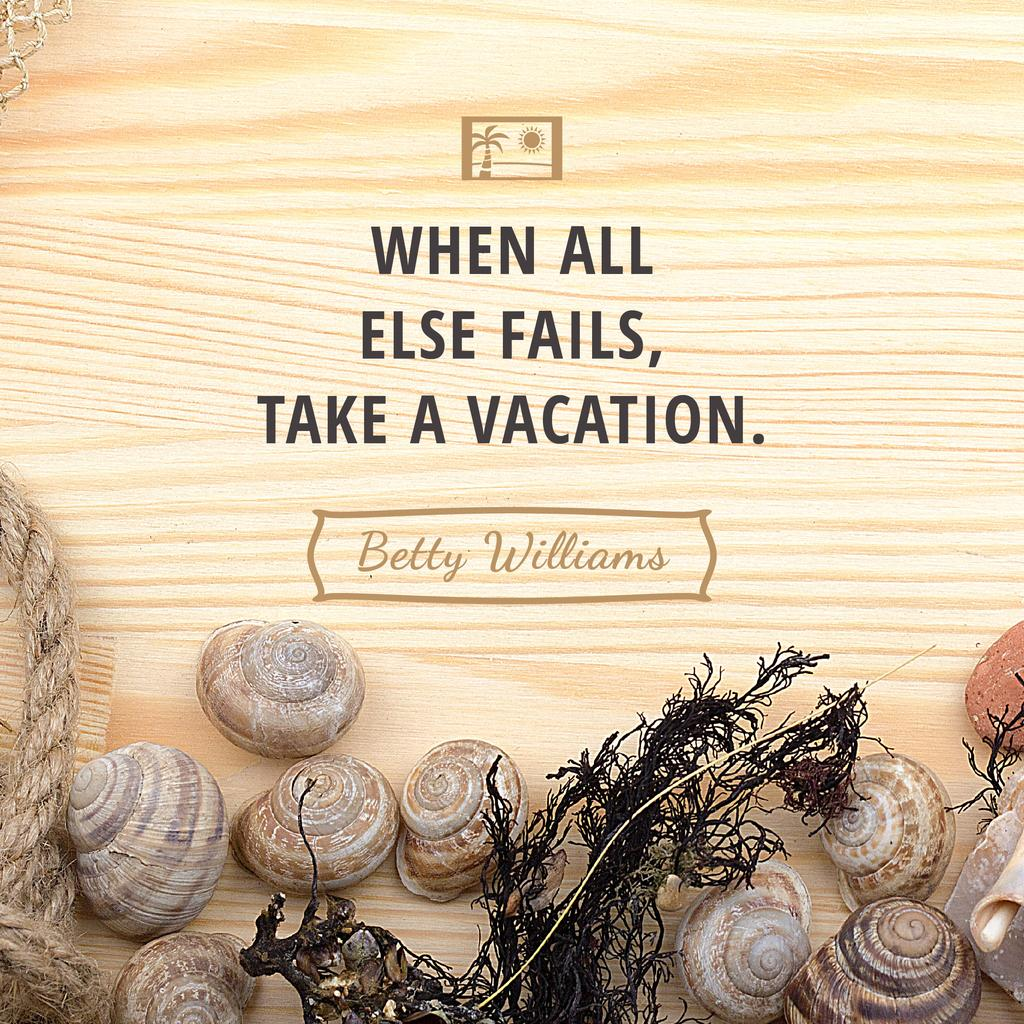 Citation about how take a vacation — Create a Design