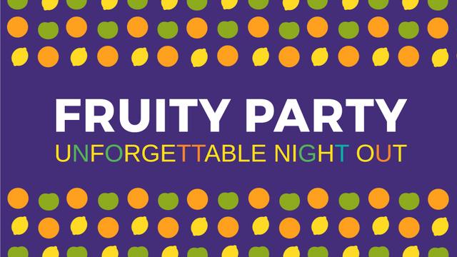 Party Invitation Blinking Citrus Fruits Full HD video – шаблон для дизайну