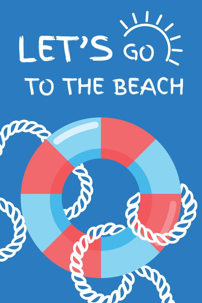Summer Trip Offer Floating Ring in Blue | Pinterest Template — Створити дизайн