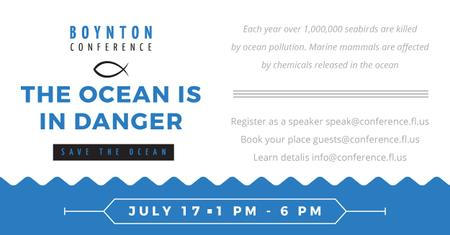 Boynton conference the ocean is in danger Facebook AD Modelo de Design