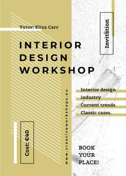 Design Workshop ad on geometric pattern