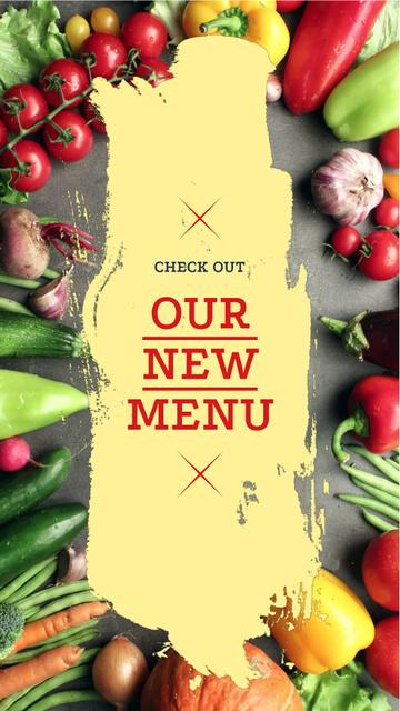 Template di design New Vegetarian menu Offer Instagram Video Story