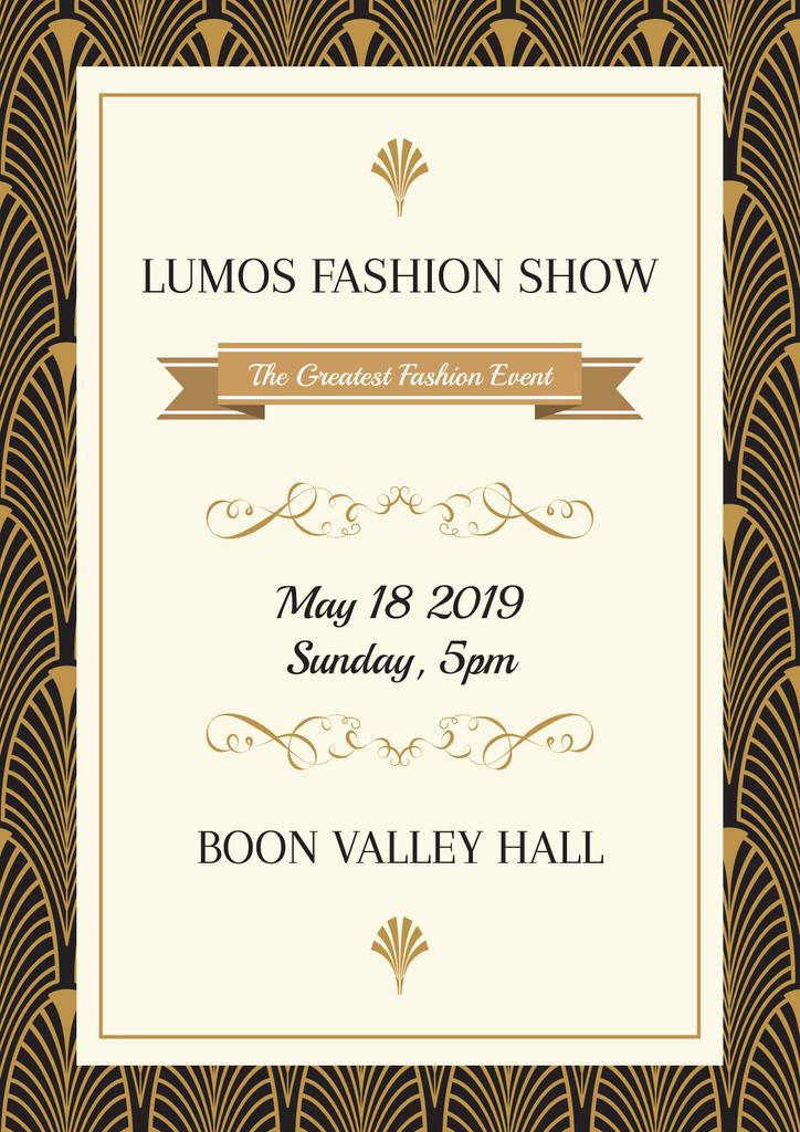 Lumos fashion show poster — ein Design erstellen