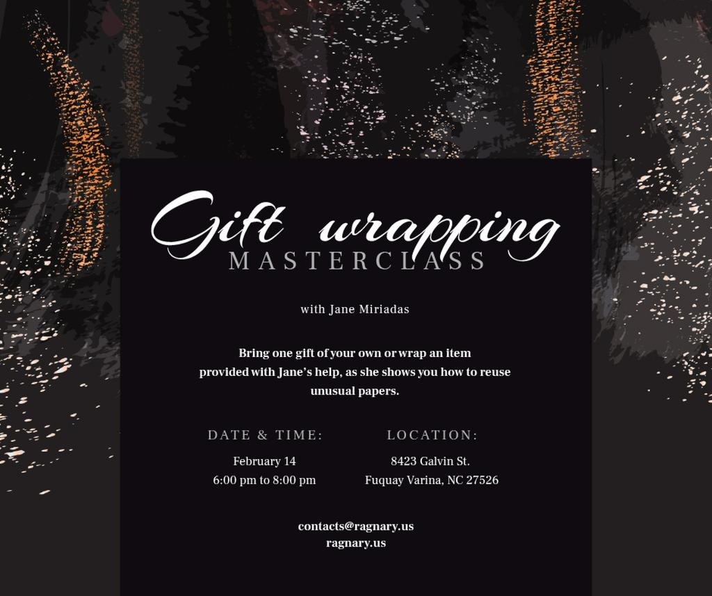 Gift wrapping workshop Promotion on paint background — Створити дизайн