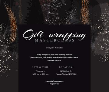 Gift wrapping workshop Promotion on paint background