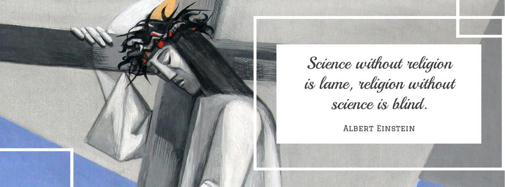 Citation about science and religion — Créer un visuel