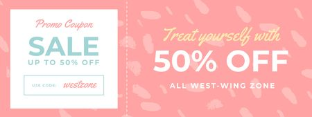 Plantilla de diseño de Discount Offer on Pink Pattern Coupon