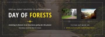 International Day of Forests Event Forest Road View | Tumblr Banner Template