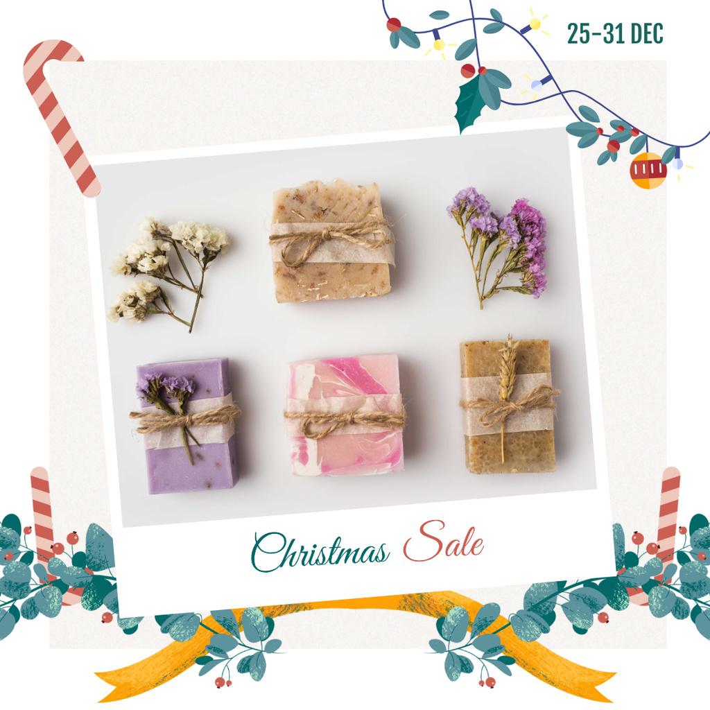 Christmas Sale Handmade Soap Bars — Maak een ontwerp